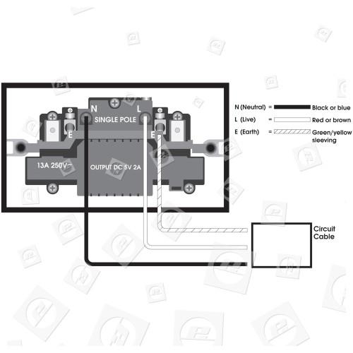 Prise De Courant Murale Avec Interrupteur 2 Sorties Avec Port De Charge 2A USB Universal