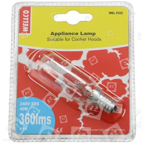 Lampadina Lunga Per Elettrodomestici 40W SES E14 (cappa , Ecc) Wellco