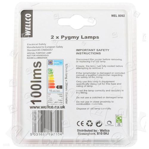 Lampadina Pigmy 15W SES (E14) Wellco