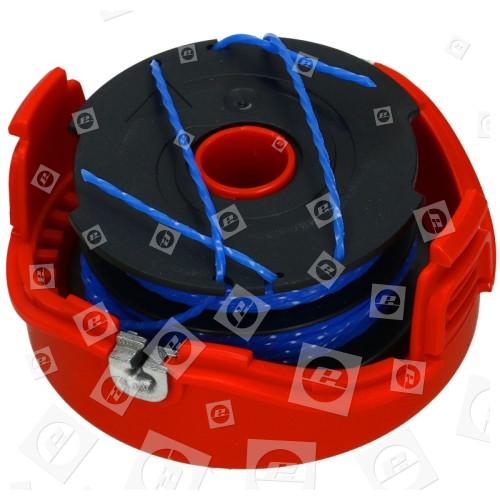 Black & Decker Vollautomatische Doppelfadenspule 2 X 6m Reflex-Plus Mit Kompletter Kassette (Abdeckung)