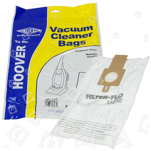 H20 Filter-Flo Synthetische Staubsaugerbeutel (5er Pack) - BAG359