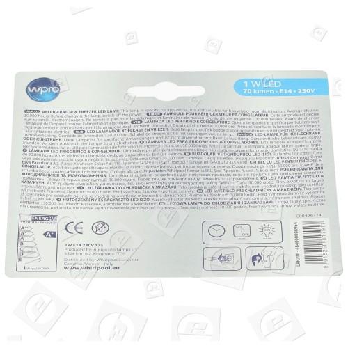 Lampadina 1W SES (E14) Frigorifero /congelatore Algor