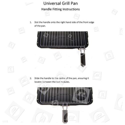 Universal Grillpfanne Kpl. 385x300mm