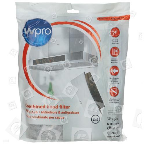 Filtro De Carbón Y Grasa 2 En 1 Universal De Campana Extractora - FHC009 - 470 X 570mm. UCF006 Cortar A Medida Wpro
