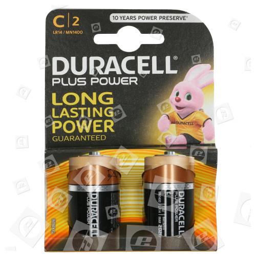 Piles Alcalines Plus LR14 - C - (blister De 2) Duracell