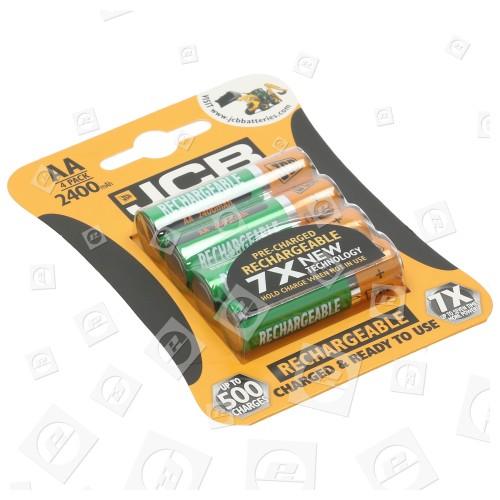 Piles Rechargeables LR6 AA (blister De 4) JCB