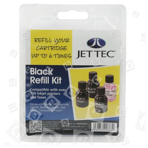 Kit Di Cartuccia Di Ricarica D´inchiostro Nero Jettec