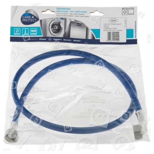 Tubo Di Ingresso Acqua Fredda Universale (blu) -1,5 M- Connessione Dritta /curva Candy