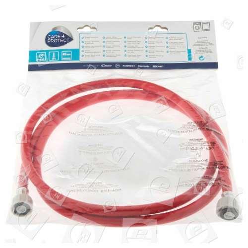 Hoover Universal Warmwasser-Einlaufschlauch (rot) - 2,5m - Gerade / Gerade
