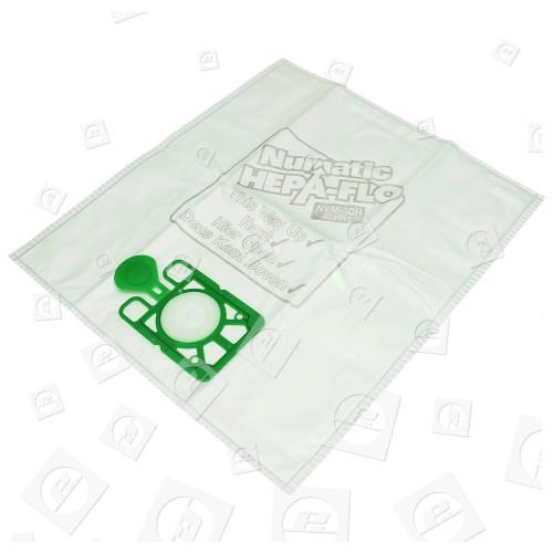 Sacs Aspirateur Filtre Hepaflo 3 Couches NVM-1CH (Paquet De 10) Numatic