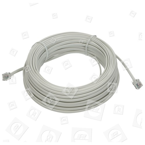 Wellco ADSL 20m Modemkabel RJ11 Stecker Auf RJ11 Stecker