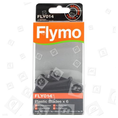 Lames En Plastique FLY014 (Paquet De 6) Pour Tonde Flymo