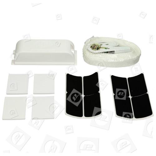 Wpro Zwischenbaurahmen Für Waschmaschinen & Wäschetrockner (mit Ausziehregal)