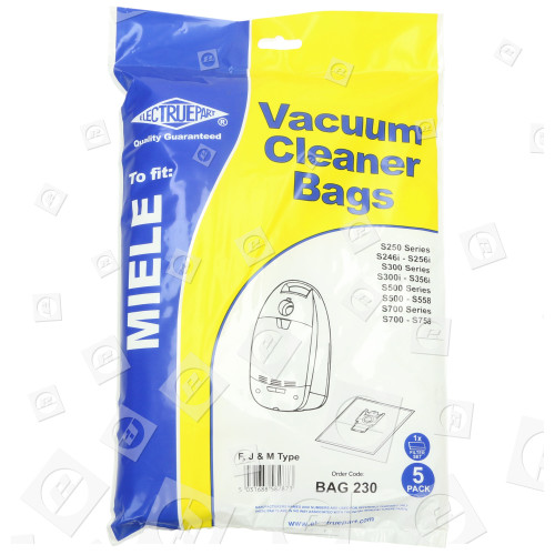 F/J/M Filter-Flo Synthetische Staubsaugerbeutel (5er Pack Einschl. 2 Zuschneidbaren Filtern) - BAG230