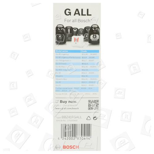 Kit Sacchetti Della Polvere Sintetici E Filtro (tipo G) - Confezione Da 4 Bosch