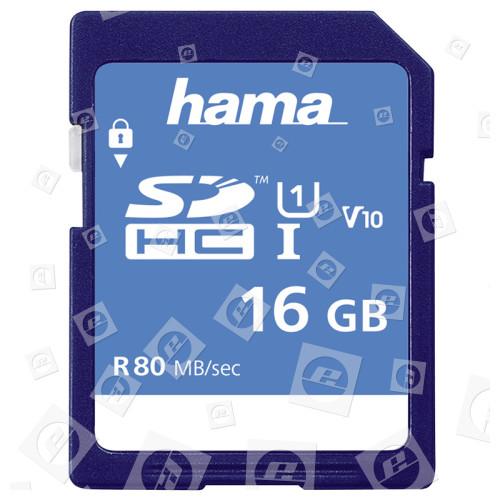 Hama Memory Fast 16GB Class 10 SDHC Speicherkarte