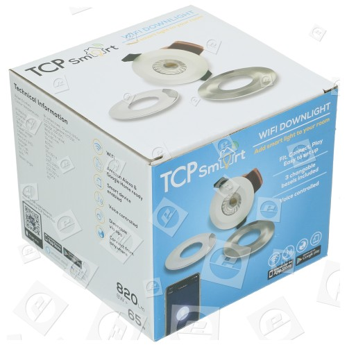 TCP Smart WiFi IP65 8W LED-Downlight