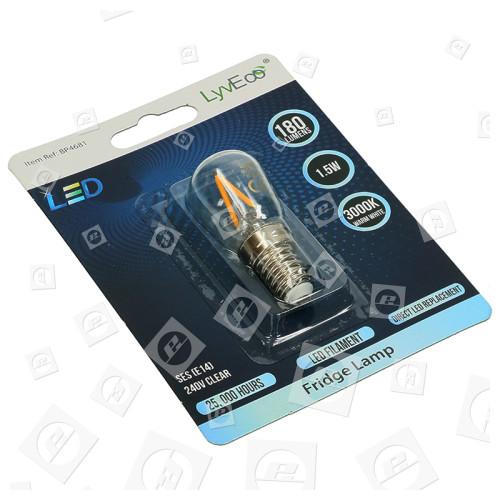 Lampada Frigo LED SES / E14 Da 1,5W (bianco Caldo) LyvEco