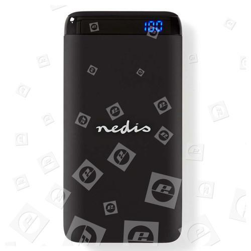 Batterie Portable | 10 000 MAh | Sortie USB-A/C 3,0 A | Entrée Micro-USB/USB-C | Noir Nedis