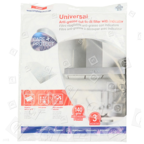 Filtro Anti Grasa Universal Con Indicador De Saturación Para Campana Extractora - Cortar A La Medida Care+Protect