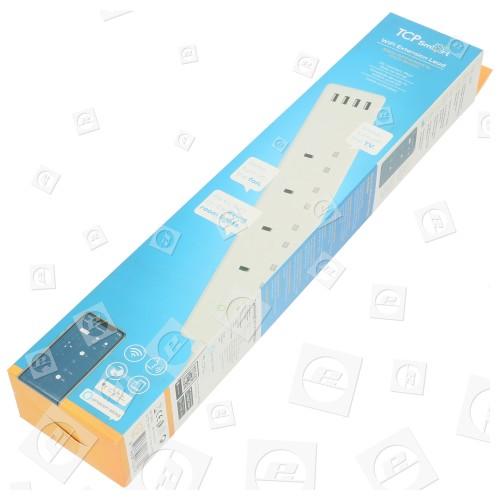 Cable Regleta Extensión De 4 Puntos TCP Smart Wifi - Blanco - Conexión Europea TCP