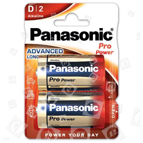 Piles D Pro Power Alcaline (paquet De 2) Panasonic