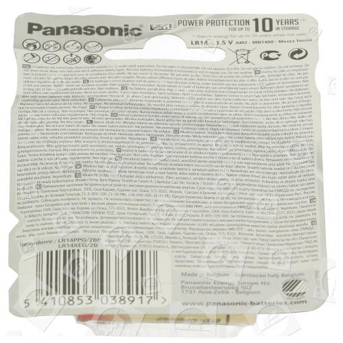 Piles Alcalines Pro Power LR14 (C) Panasonic