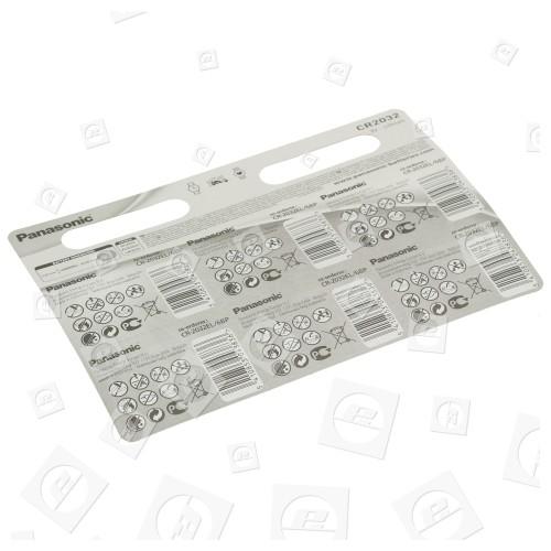 Piles Boutons Lithium CR2032 (blister De 6) Panasonic