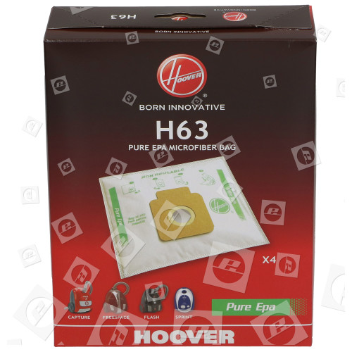 Hoover H63 Pure HEPA Papierbeutel (4er Box)