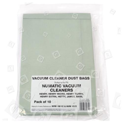 Kompatible NVM-1CH Papier-Staubsaugerbeutel (10er Packung)