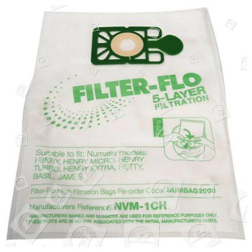 Kompatible NVM-1CH Filter-Flo Synthetische Staubsaugerbeutel (10er Packung)
