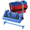 Numatic BK 5 - Speedclean Wide Press, Red 22-litre And Blue 15-litre Buckets,Nutex Press Frame For 1904