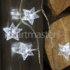 Noma 40 WHITE LED CRYSTAL STAR GARLAND