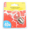 Wellco Universal 40W ES (E27) Round Appliance Lamp