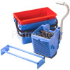 Numatic BK4 - Allmops Vertical Press, Blue 22-Litre And Red 22-Litre Buckets, Nutex Press Frame For 1904