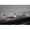 Noma 10 Warm White LED Blue Frosted Glass Baubles