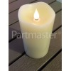 Noma 23cm Scalloped Top True-Flame Candle - Battery Powered