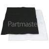 Hygena APM2591 Universal Cooker Hood Grease / Carbon Filters Kit : Both 570x470mm ( Cut To Size )