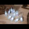 Noma Opaque White LED Glass Bottles Garland