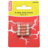 Wellco BS1362 Plug Top Fuses (X4) 3A Fits 13A Plug Top Single Part (Sp)