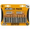 JCB AA Alkaline Batteries (Pack Of 12)