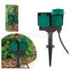 Twin Outdoor Garden Socket - UK Plug