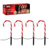 The Christmas Workshop Red & White Candy Cane Path Light (Pack Of 4)