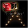 The Christmas Workshop 360 LED V-Shape Starburst Curtain Light - Warm White