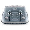 Delonghi Scolpito 4 Slice Toaster - Azure