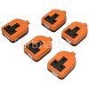 Wellco Bulk 13A Orange Single Trailing Socket Rubberised (Box Of 5)