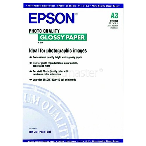 Epson A3 Photo Quality Glossy Paper | www partmaster co uk