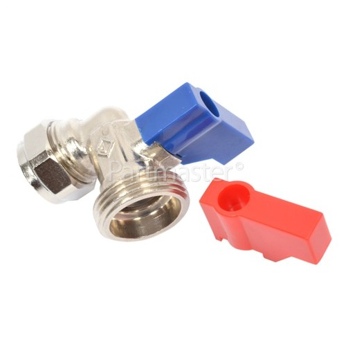 Hose Taps Angled (1 Pair) (for Plumbing In Your Appliances )