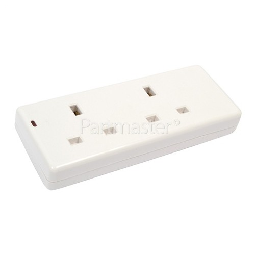 Wellco 2 Gang Trailing Socket + LED