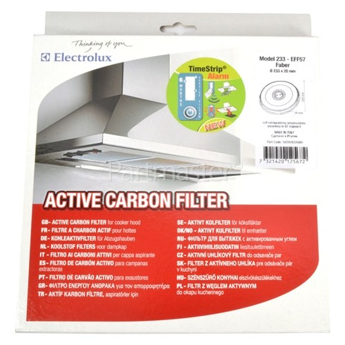 Electrolux Group EFF57 Carbon Filter : 233MM DIA X 20MM